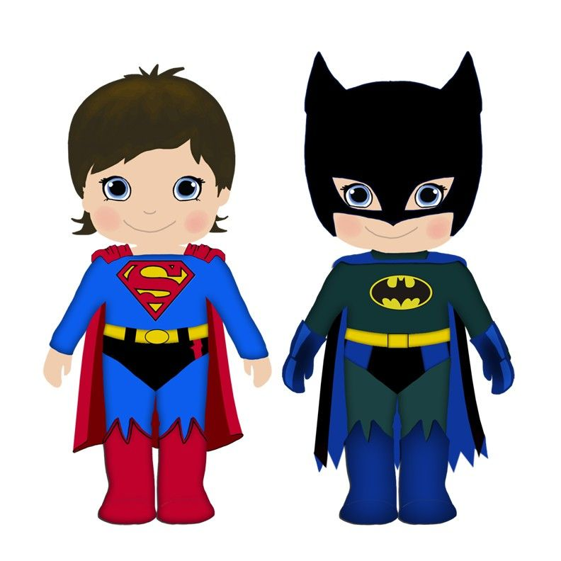 792x792 Superman And Batman Clip Art Digital Clip Art Etsy For Commercial