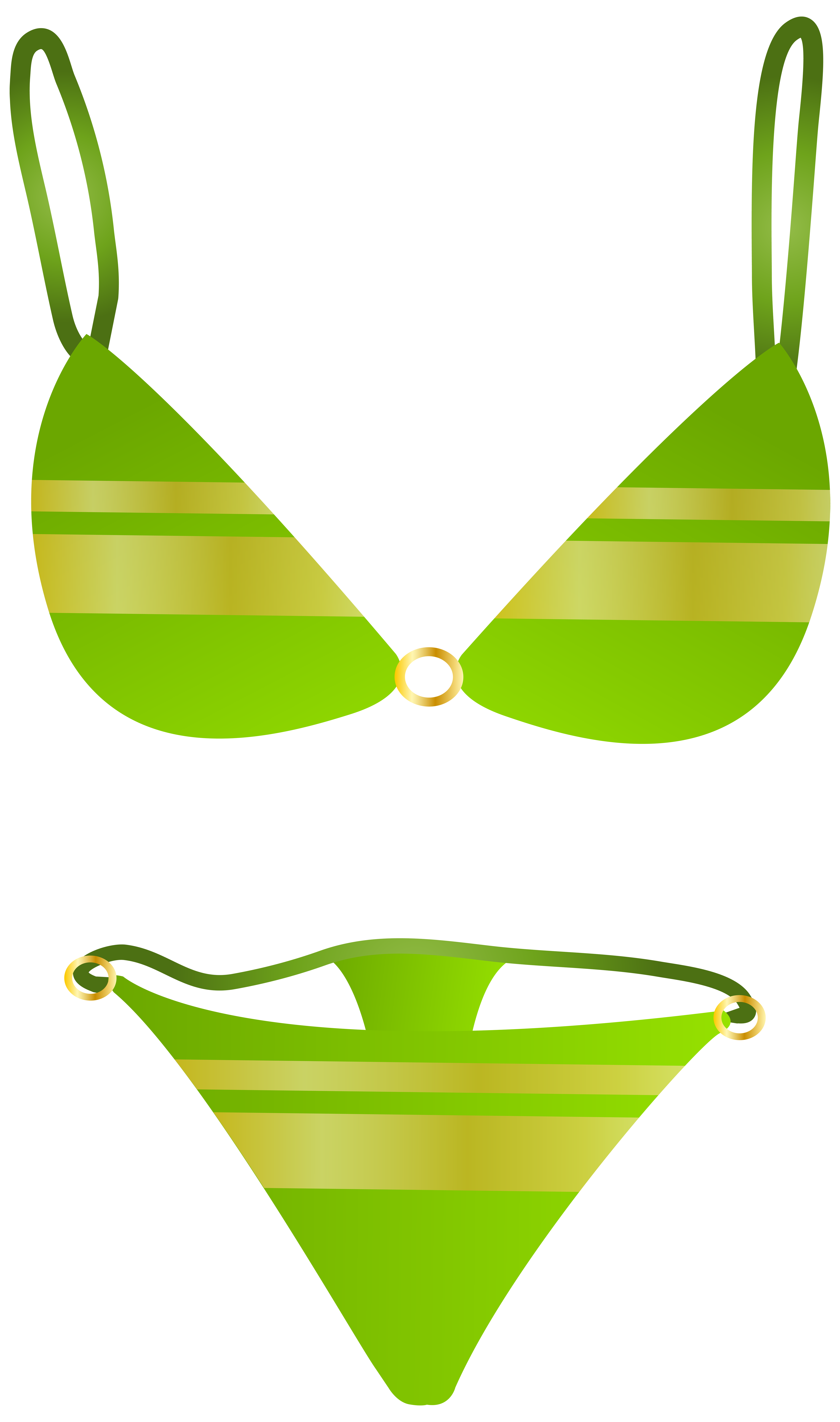4726x8000 Green Swimsuit Png Clip Art