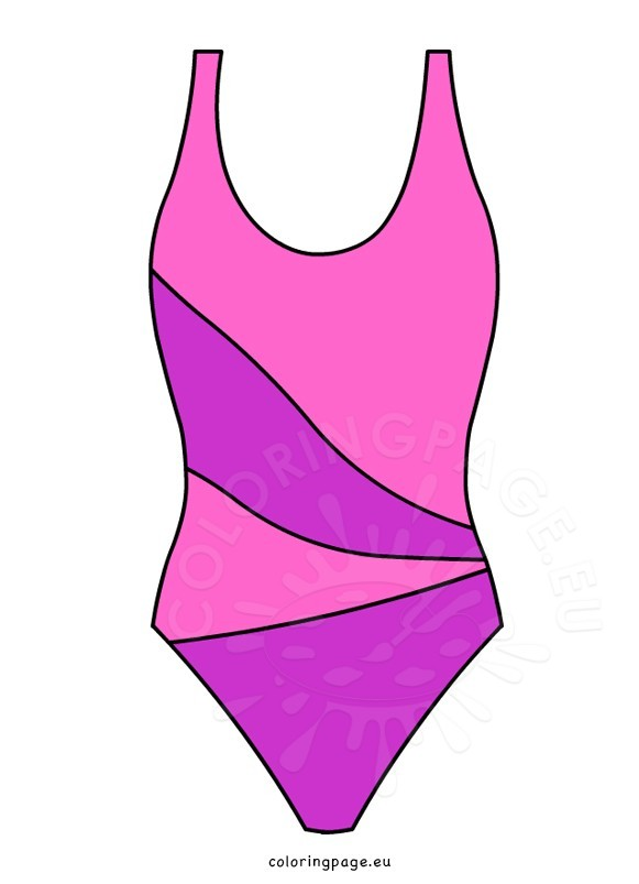 581x803 Pink One Piece Swimsuit Coloring Page