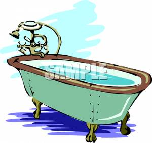 300x283 Clipart Picture A Bathtub Full Of Water