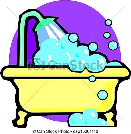450x462 Illustration Of A Bathtub Vector Clip Art