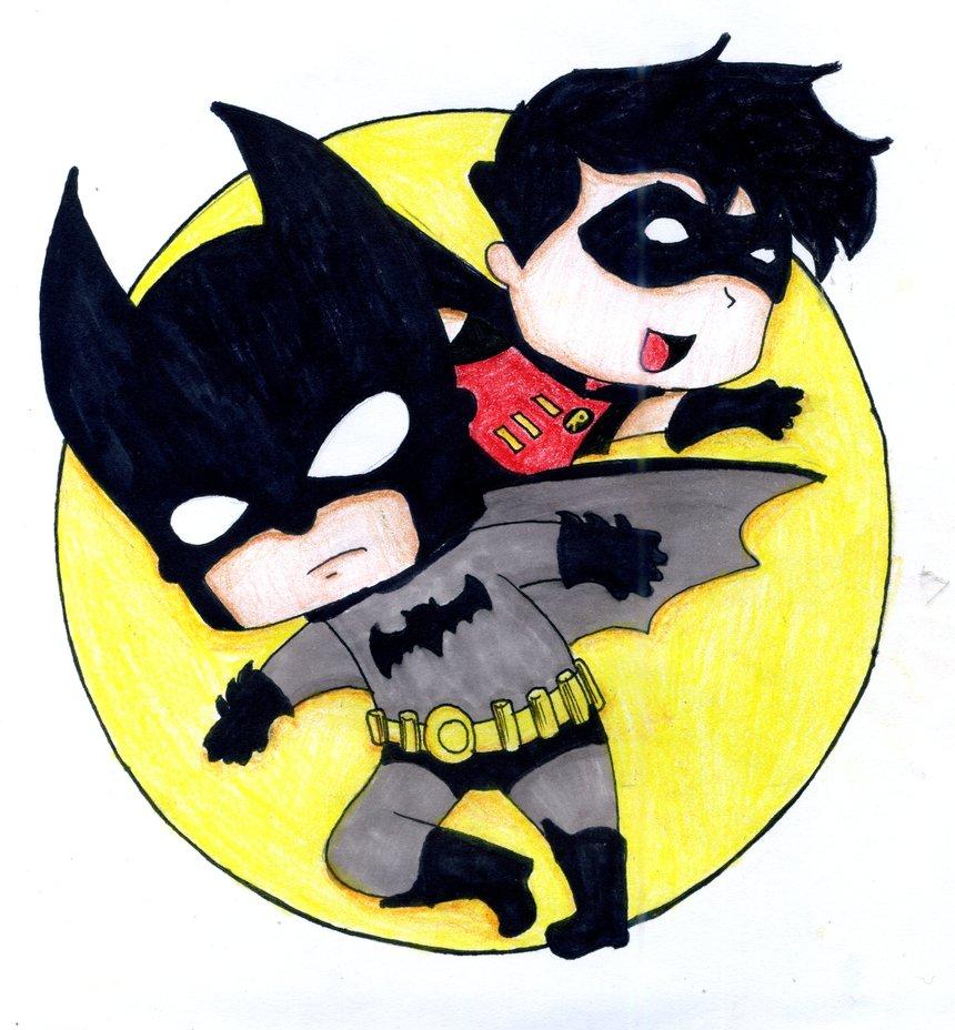 860x928 Batman And Robin By Cute Aholic