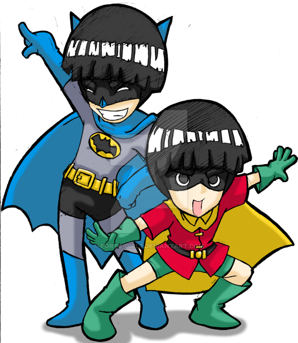 600x692 Batman And Robin By Forte Girl7