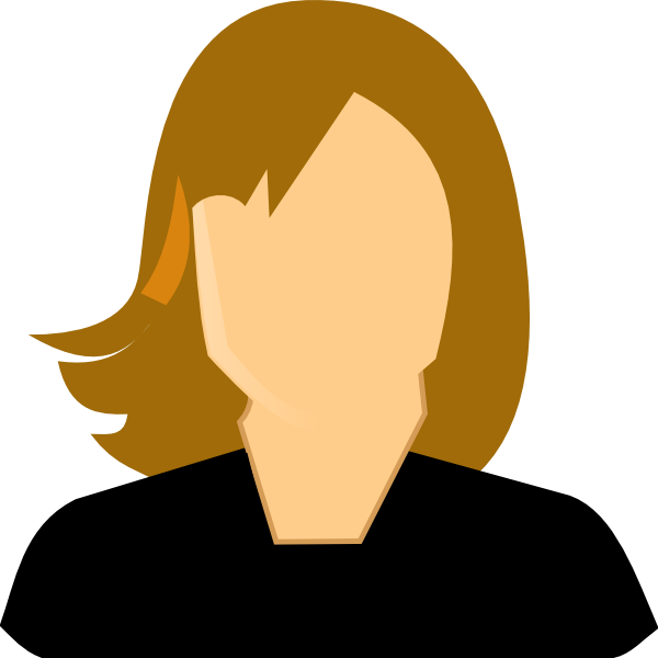 600x600 Female Professional Clip Art