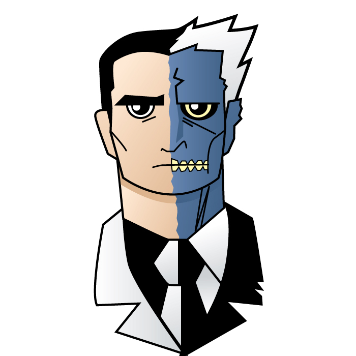 700x700 Nate Xopher Gotham Two Face And Mr Freeze
