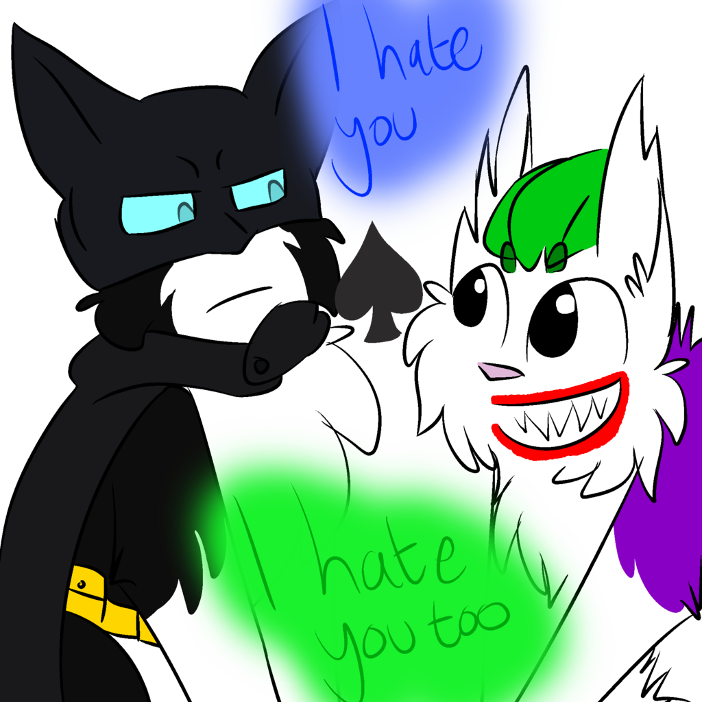1024x1024 Joker And Batman By Dragon Kitty