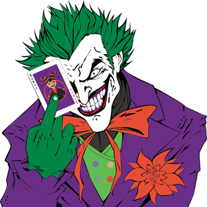 300x300 Joker From Batman Logo Vector (.eps) Free Download