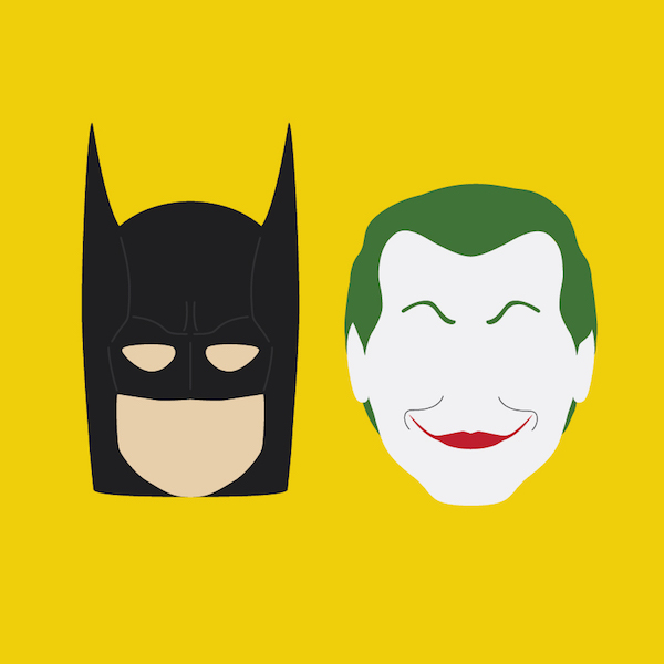 600x600 Minimalist Illustrations Show The Evolution Of Batman, The Joker