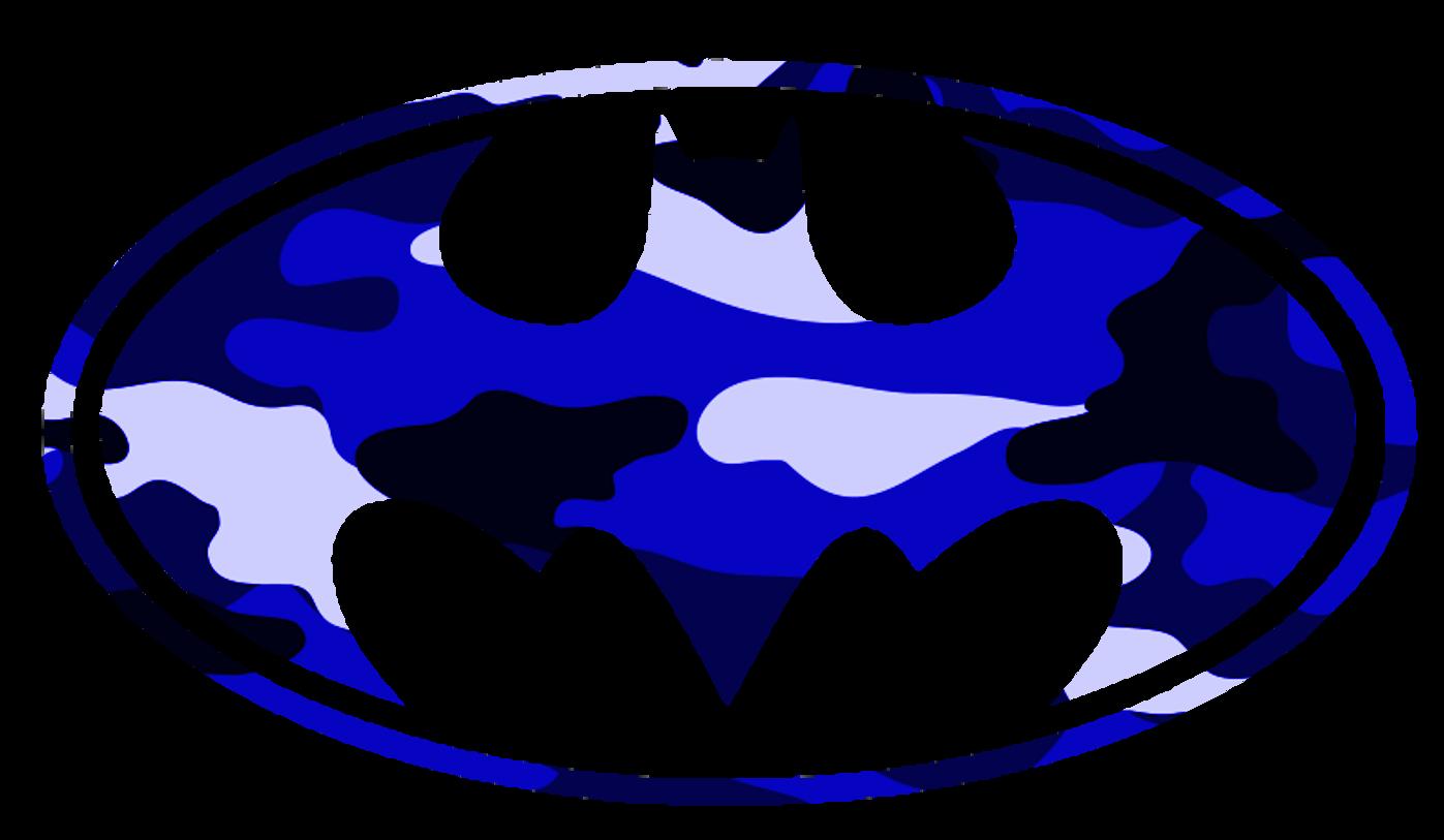 1397x813 Batman Logo Blue Camo Free Images At Clker Com Vector Clip Art