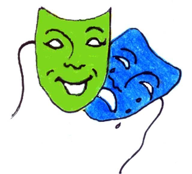 640x580 Clip Art Drama Masks Clipart Panda