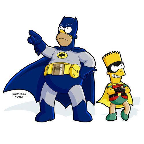 500x500 Simpsons Batman Amp Robin Vector Art By Christiaan Mateo