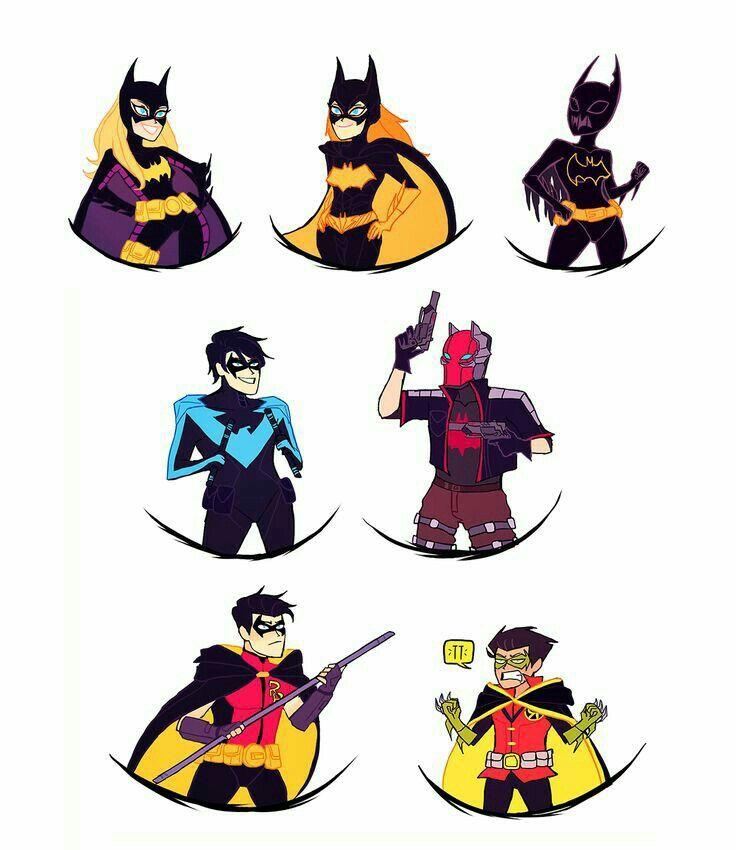 736x850 Batfam. Superhero Things Bat Family, Batman And Bats