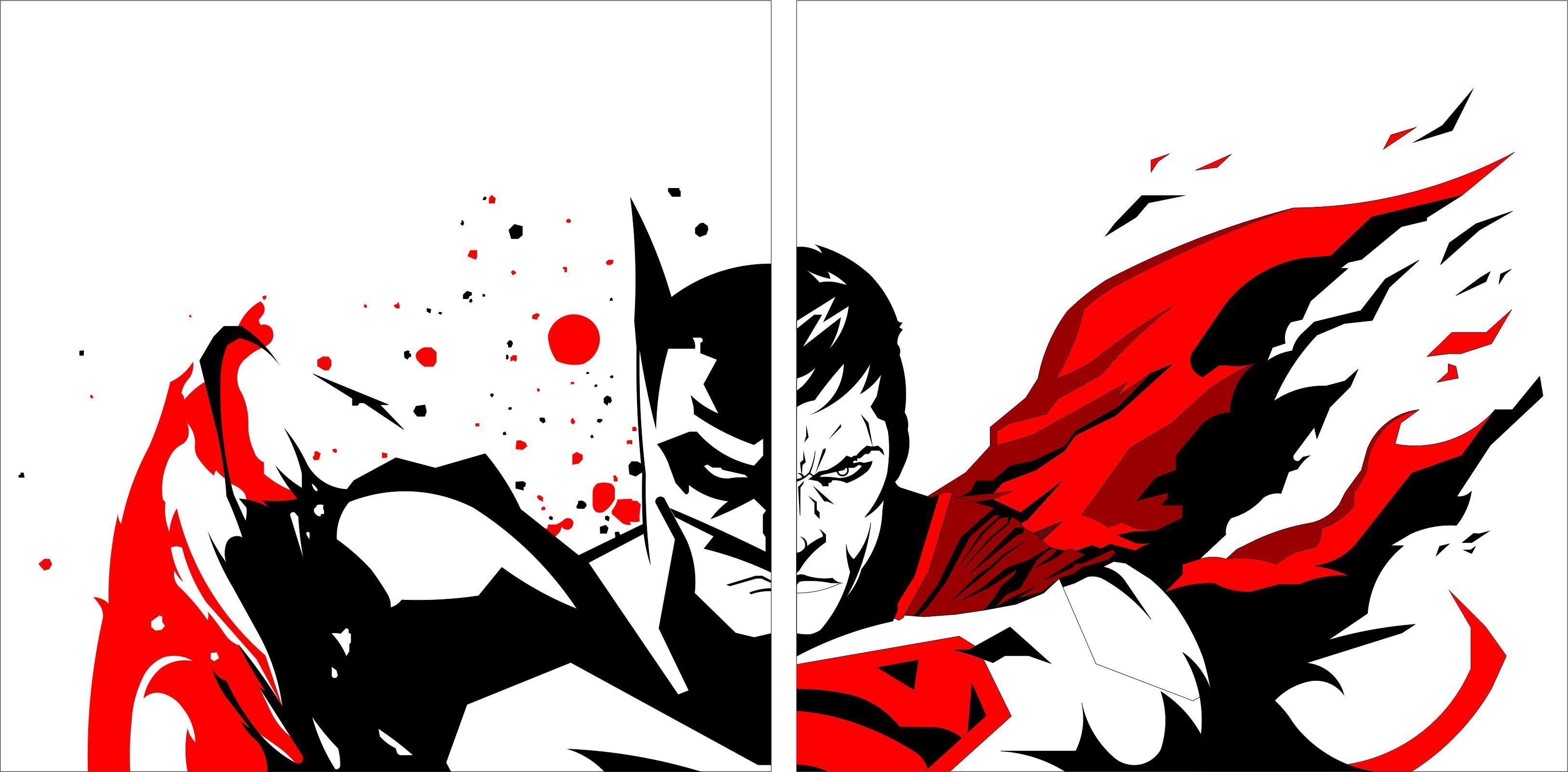 3252x1601 Batmanvssuperman By On @ Comic