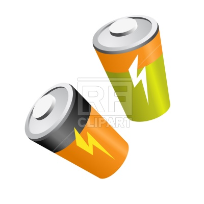 400x400 Battery Royalty Free Vector Clip Art Image