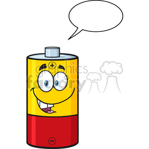 300x300 Royalty Free Royalty Free Rf Clipart Illustration Talking Battery