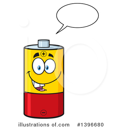 400x420 Battery Character Clipart