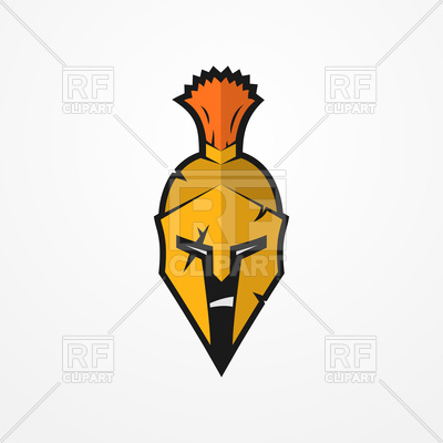 400x400 Furious Face Of Roman Warrior In Battle Helmet Royalty Free Vector