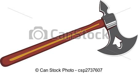 450x239 Vector Illustration Of Viking's Battle Axe Vectors Illustration
