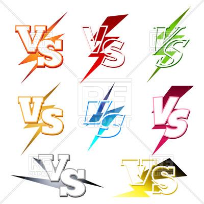 400x400 Versus Or Vs Confrontation Emblems