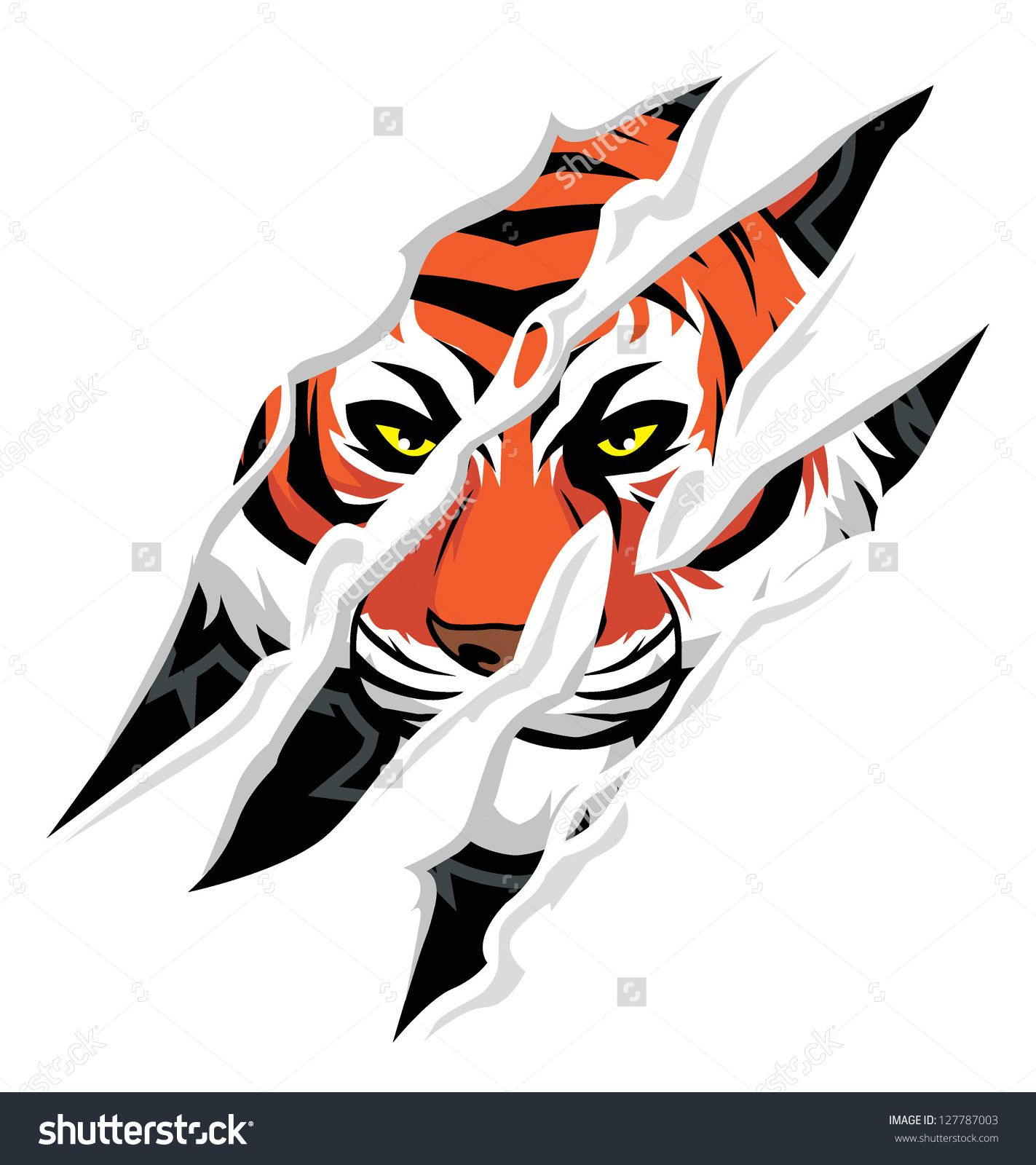 1423x1600 Tiger Claw Mark Stock Vector 127787003