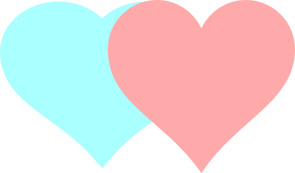 600x353 Two Hearts Clipart