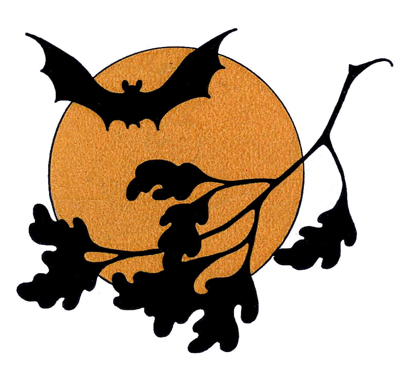 1350x1225 Vintage Halloween Clip Art Bat With Moon The Graphics Fairy Lovely