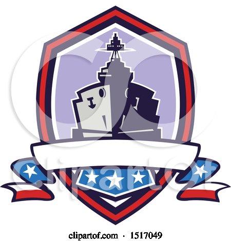 450x470 Clipart Of A Cartoon Wwii Naval Battleship