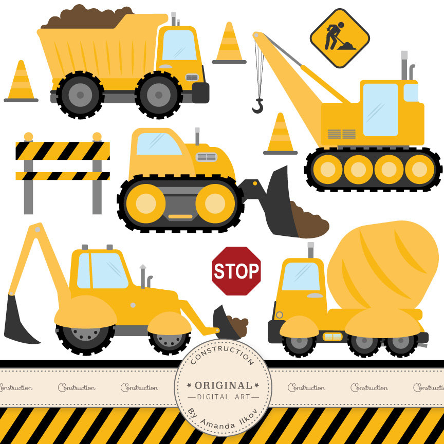 864x864 Digger Construction Truck Clipart