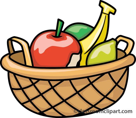 550x478 Fruit Bowl Clipart