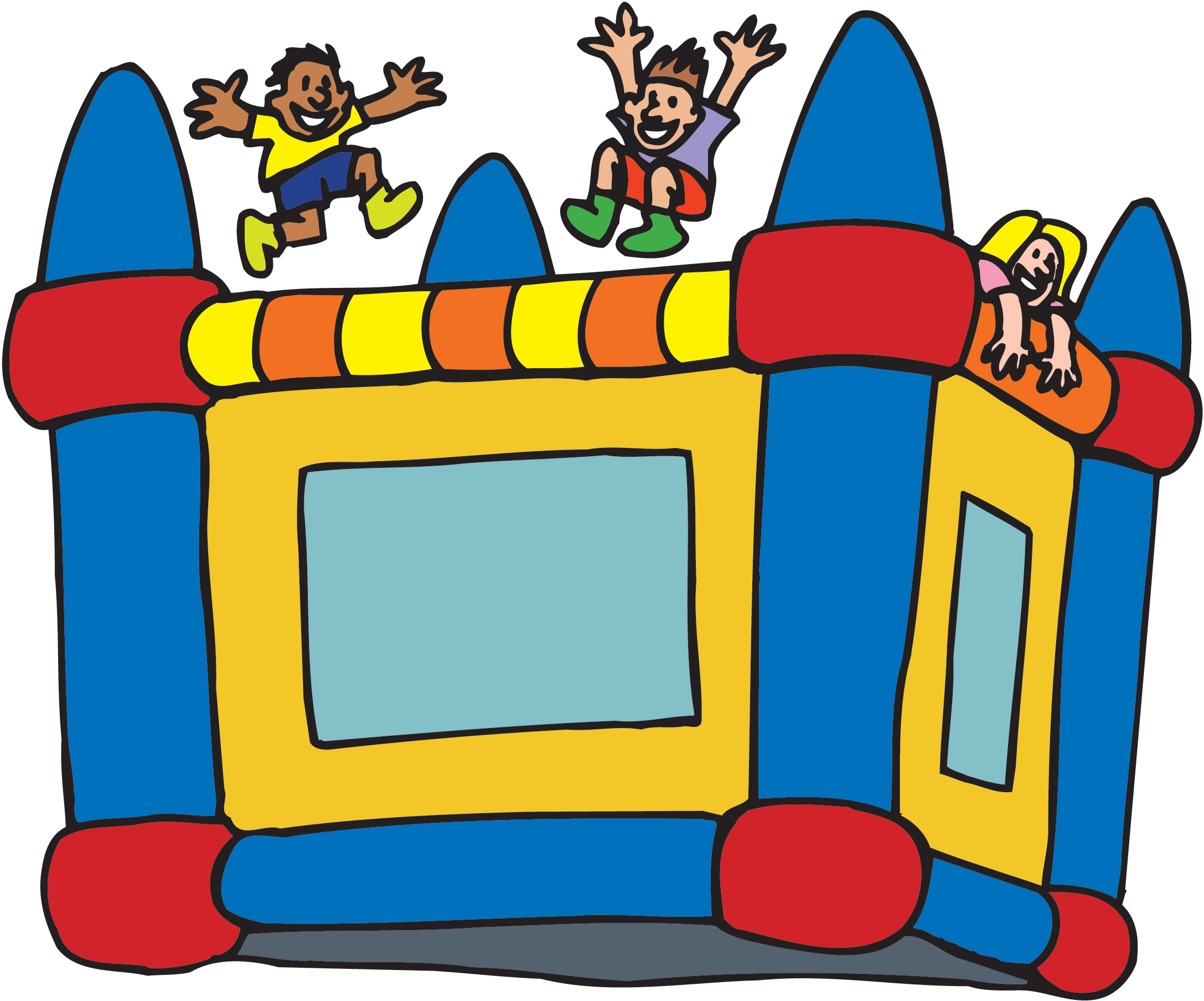 2175x1808 Inflatable Bounce House Clipart
