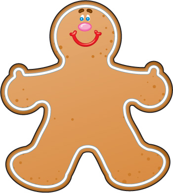 350x392 Gingerbread Man Clip Art Gingerbread Man Clip Art Free Clip Art