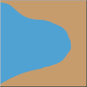 304x304 Clip Art Landforms Bay Color I Abcteach