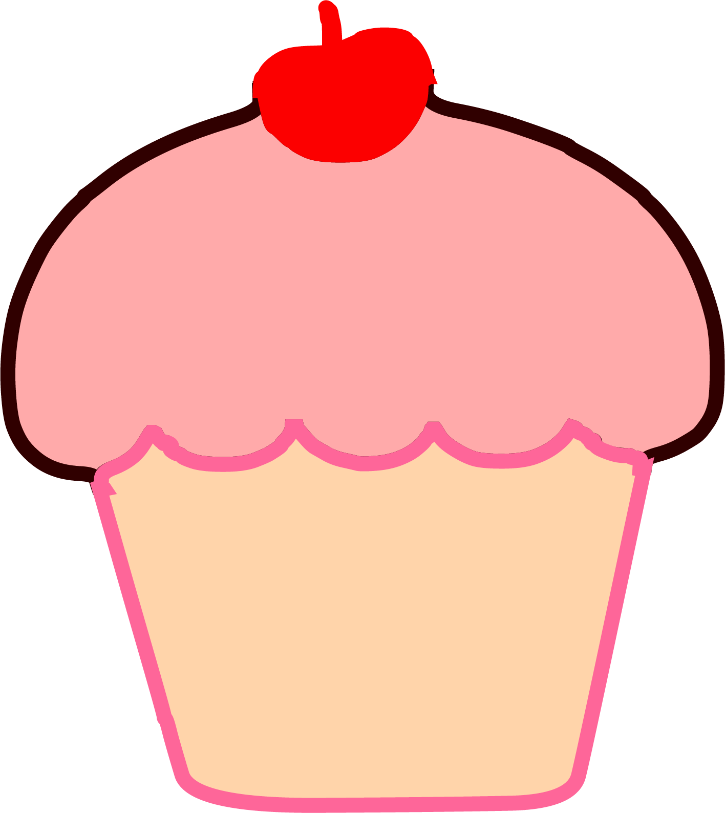 1416x1588 Brown Cupcake Cherry Clipart Png