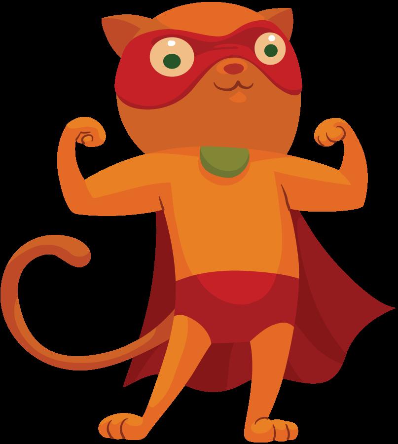 807x900 Hero Clipart Cat