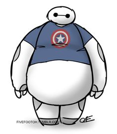 236x269 Baymax (Captain America Armored) By Ztw1217 Big Hero 6