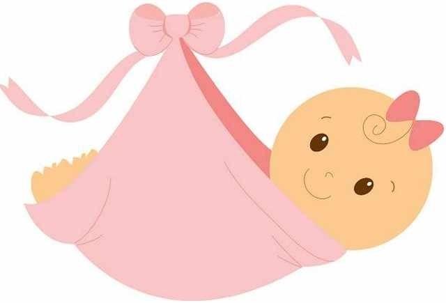 640x435 Baby Girl Clip Art