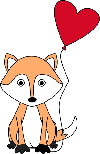 324x500 Valentine's Day Fox Clip Art