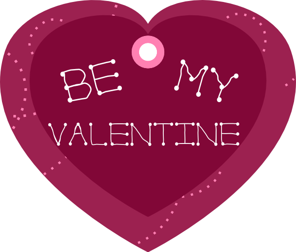600x511 Be My Valentine Heart Shaped Gift Tag Clip Art Free Vector 4vector