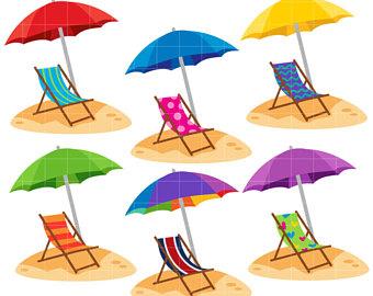 340x270 Beach Chair Clipart Etsy