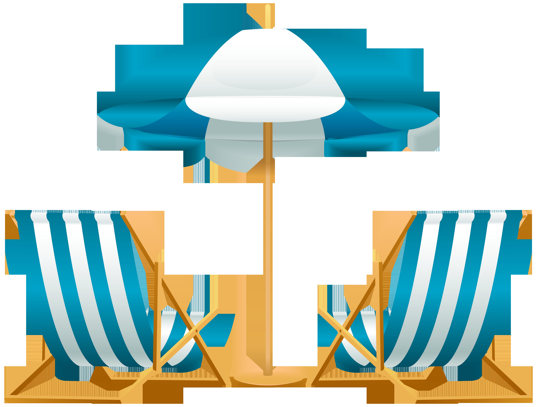 6000x4552 Beach Chair Umbrella Clip Art