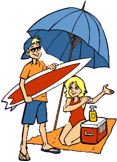 233x323 Free Clipart Labor Day 2a Summer Beach Vacation Related Clipart