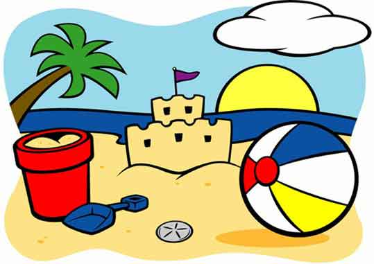 539x381 Beach Scene Mural Paint By Number Children's Mural