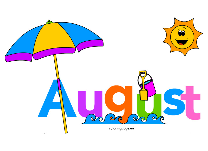 822x595 August Clipart Month Of August Clip Art Coloring Page Music