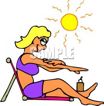 344x350 Woman Getting A Tan