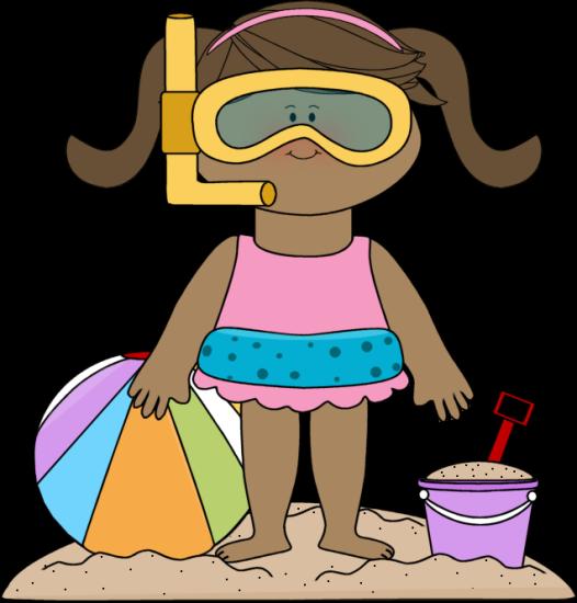 526x550 Beach Clip Art Girl