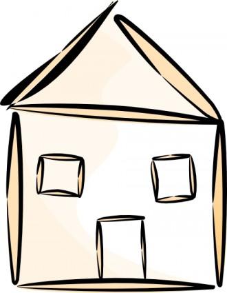 330x425 Beach House Cartoon Clipart