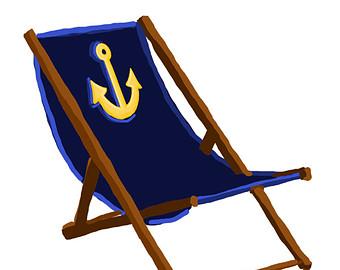 340x270 Beach Chair Clip Art Etsy