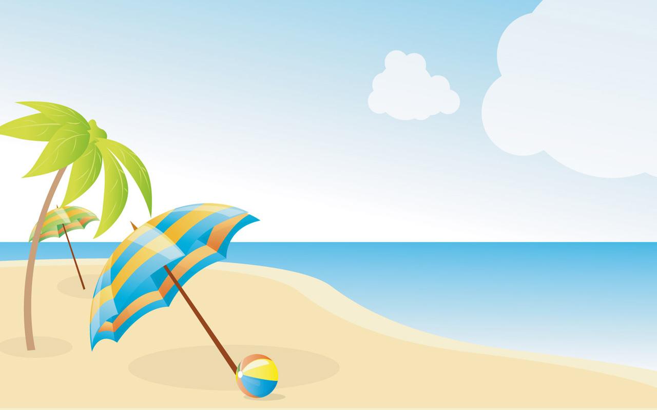 1280x800 Hawaii Clipart Beach Fun