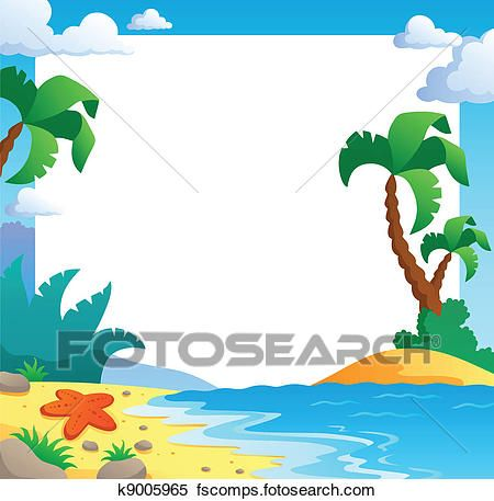 450x457 Deluxe Beach Themed Clip Art