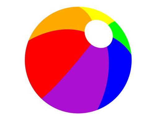 500x391 Ball Vector In Rainbow Colour For Summer Beach Party Ga